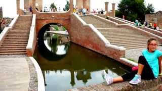 Famous Trepponti Bridge Of Comacchio In Italy
