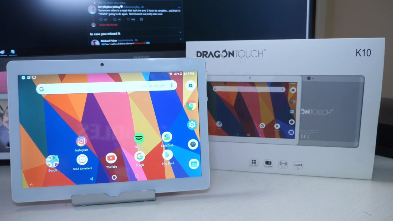 Best 10 Inch Tablet Under $100 2019? | Dragon Touch K10 Tablet Review -  YouTube