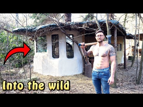 Man quits job to build a cabin in the woods