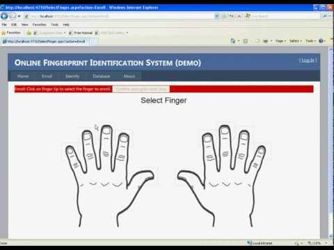 OnlineAFIS demo (Fingerprint Recognition System) - YouTube