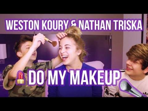 WESTON KOURY & NATHAN TRISKA DO MY MAKEUP! | Baby Ariel
