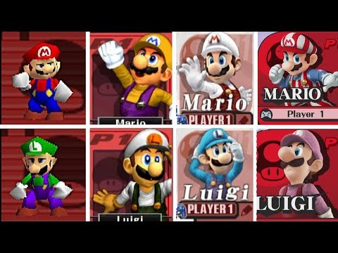 Evolution Of All Characters & Costumes/Skins In Super Smash Bros (1999-2016)