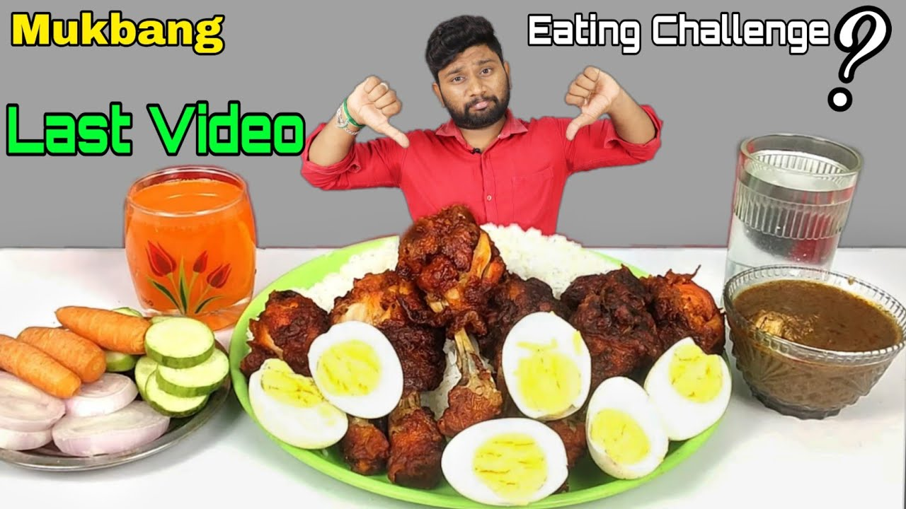 Last Video RICE CHICKEN CURRY, CHICKEN LEG 🍗 & BOILED EGGS | Mukbang | EATING SHOW