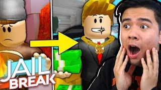 REACTING TO POOR TO RICH: A SAD JAILBREAK MOVIE! (Roblox)