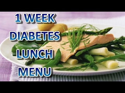 1 Week Diabetes Lunch Menu: Diabetes destroyer: http://tinyurl.com/diabetes-destroyer-download 1 Week diabetes lunch menu list below:  1. Sunday. Grilled Salmon in Ciabatta. Here fresh salmon fillets are marinated, then lightly grilled and served in warm ciabatta rolls with mixed salad leaves and a basil mayonnaise, to create a very tempting and special lunch dish. Using light mayonnaise and yogurt reduces the fat without losing any of the creaminess.  2. Monday.   Spiced Couscous Tomatoes. Choose ripe, well-flavoured tomatoes for this dish. Hollowed out, tomatoes make the perfect container for a spicy eggplant, dried apricot and nut couscous. Serve the spiced couscous tomatoes with sesame breadsticks.  3. Tuesday.  Tarragon Chicken Salad. Tahini, a paste made from sesame seeds, is a favourite ingredient in Middle Eastern cooking. Available at most large grocery stores, it adds a nutty taste and thick creaminess to the dressing for this nutritious tarragon chicken and baby spinach salad.  4. Wednesday.   Watermelon and Feta Salad. In this salad, the salty tang of creamy feta cheese contrasts with pieces of sweet watermelon and juicy golden nectarines. A mix of arugula, endive and leaf lettuce adds a slightly peppery taste, while the toasted pumpkin seeds give it a nice crunch.  5. Thursday.   Eastern Salad. Based on fattoush (the colourful, crunchy salad served throughout the Middle East), this version adds tuna for extra flavour and protein.  6. Friday.    Citrus and Spinach Salad. Fresh leaf spinach pairs well with citrus fruits, melon and prosciutto. Here the spinach is tossed with the fruits and their juices and then drizzled with a creamy and sweet balsamic dressing. A little prosciutto is used to top the salad, so you get the flavour without adding too much fat!  7. Saturday.   Summer Salmon and Asparagus. Fresh young vegetables and succulent salmon make this casserole highly nutritious, and it is also quick to prepare. Choose tiny leeks, tender asparagus and sugar-snap peas, all of which add visual appeal to the dish. Serve boiled new potatoes with the summer salmon and asparagus for a complete meal.  Diabetes destroyer: http://tinyurl.com/diabetes-destroyer-download