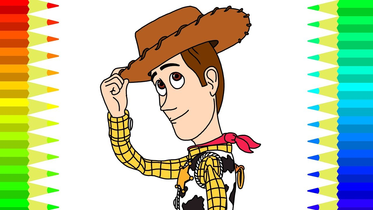 TOY STORY 4 WOODY Coloring Pages For Children | Learn ...