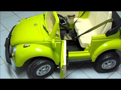 peg perego kinder vw kinderk fer kinderauto beetle youtube. Black Bedroom Furniture Sets. Home Design Ideas