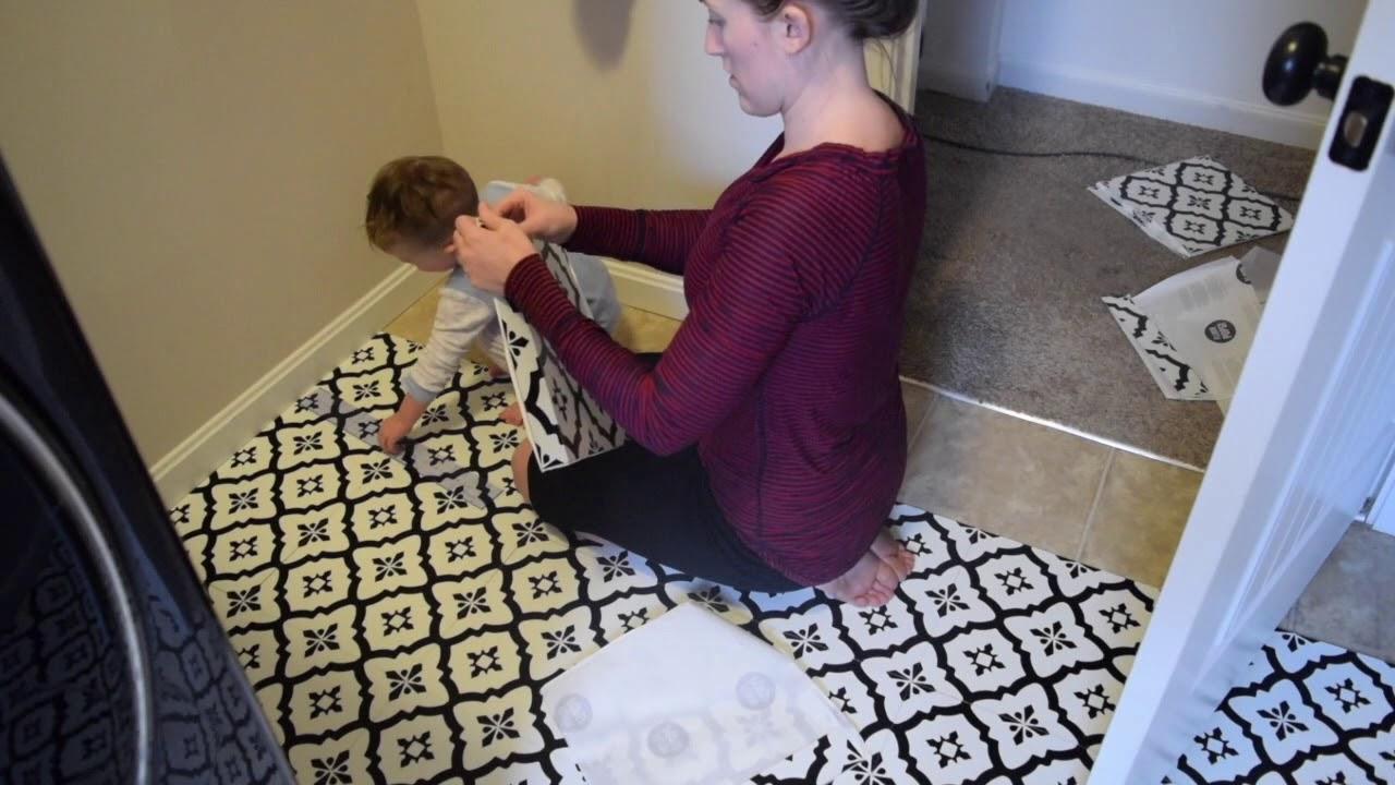 diy farmhouse floor tile floor pops