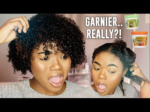 GARNIER FRUCTIS FOR NATURAL HAIR?! Umm... | *NEW* '1 Minute Hair Mask' First Impression