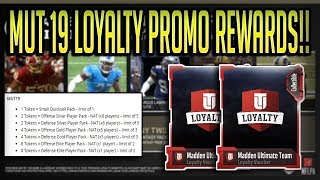 MUT 19 LOYALTY PROMO REVEALED! NEW REWARD SYSTEM! 5 FREE ELITE CHOICES! | MADDEN 19 ULTIMATE TEAM