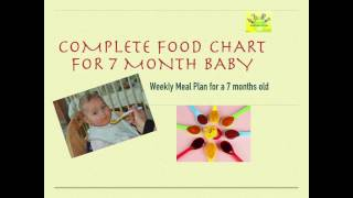 7 month baby food chart| Food Chart for Babies #2