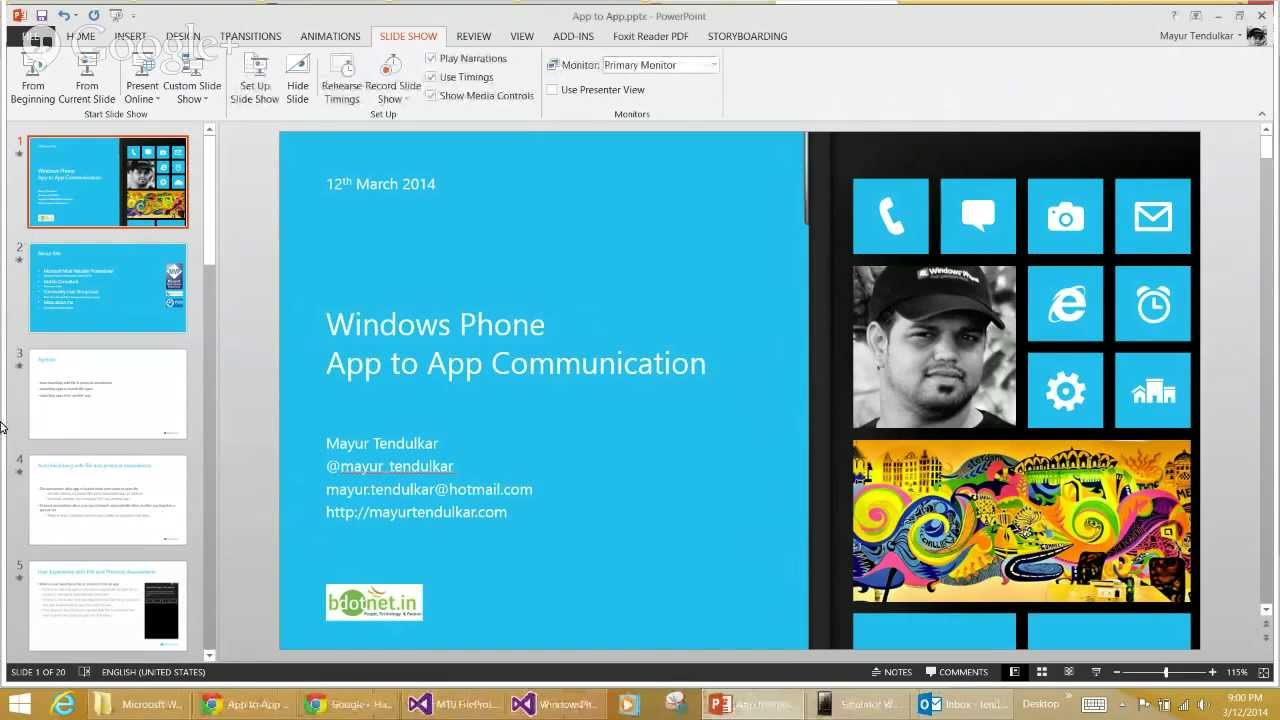 Google hangouts client for windows phone 8 - Bdotnet Wednesday Hangout App To App Communication In Windows Phone 8 By Mayur Tendulkar