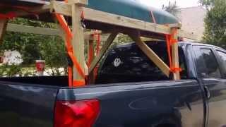 Home made canoe/kayak rack!!