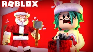 NO TE let catch by the evil SANTA CLAUS in ROBLOX😱