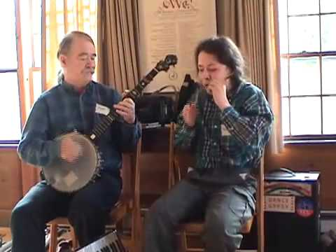 """Old Joe Clark"" on banjo, Jaw ""Jews"" Harp by the Fiddling Thomsons at Durham Unitarian Church"