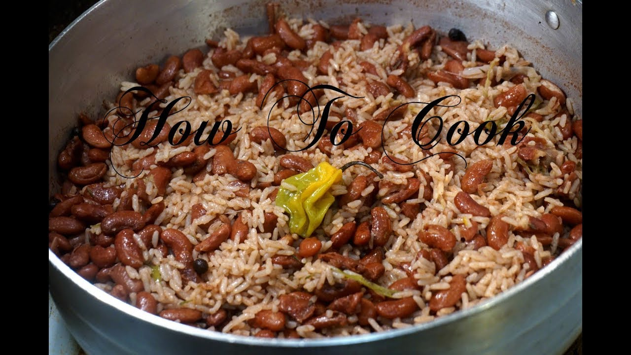 How to cook the best authentic Jamaican Rice and Peas