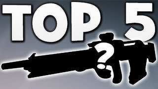 Destiny - TOP 5 PVE WEAPONS EVER !!