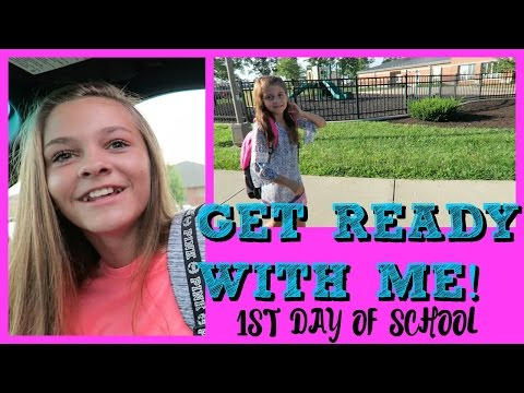 📝1ST DAY OF SCHOOL📝 |⏰ GET READY WITH ME⏰ | Emma & Ellie