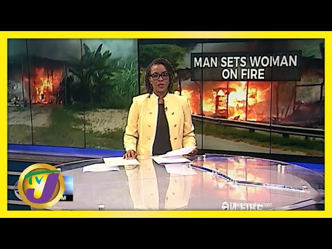 Jamaican Man Set Woman in Hanover on Fire | TVJ News
