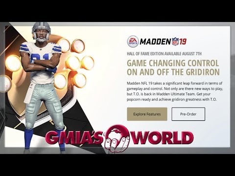 MADDEN 19 COVER ATHLETE IS TERRELL OWENS IN A COWBOYS UNIFORM HALL OF FAME