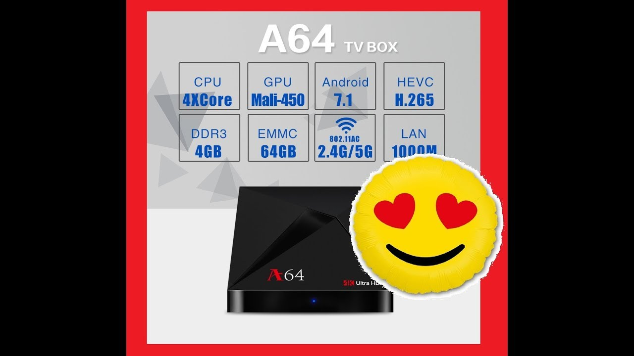 New Android TV Box A64 2018 / RK3328 / 4GB / 64GB