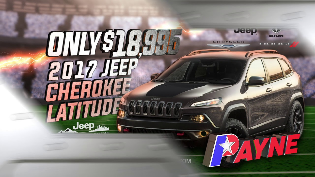 Only $18,995 for a 2017 Jeep Cherokee Laude| Ed Payne Motors ...