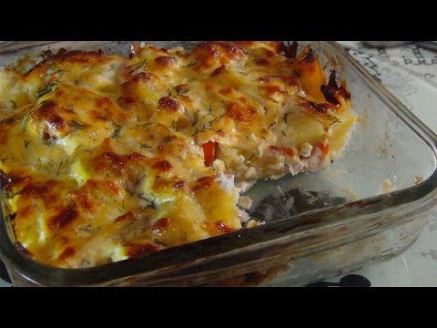Как приготовить рыбу в духовке с овощами и сыром