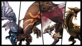 論中二,火龍一家真的沒在怕的。 本期給大家介紹金火龍,銀火龍,黑炎王,紫毒姬的生態習性。