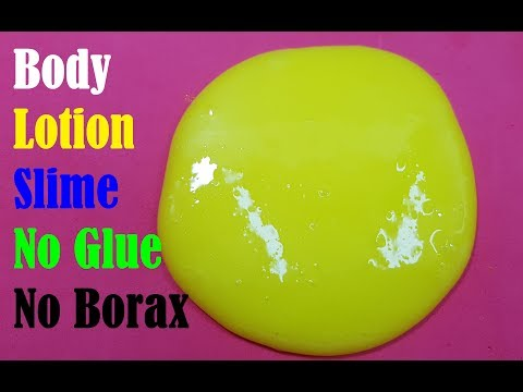 How to make slime with just lotion and water