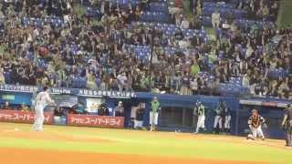 2015.4.24 巨人vsヤクルト 読売ジャイアンツ 澤村拓一 投球練習.