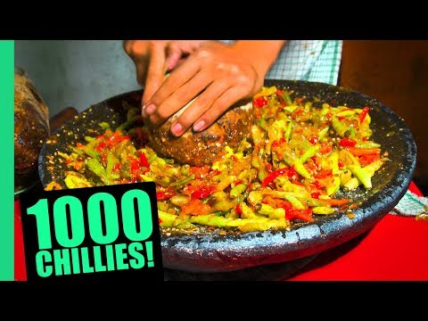 EXTREME Spicy Food Challenge in Jakarta! HUGE 32 Kinds of Sambal and LEVEL 5 Seblak!