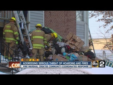 Fire officials taking steps to address serious threat of hoarding and fires