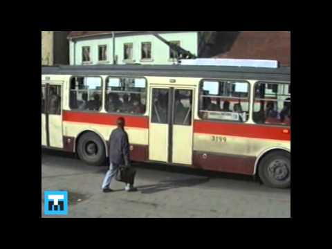 1991 TMB Brno, provoz DPMB, tramvaje, trolejbusy, autobusy