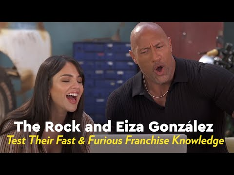 The Rock And Eiza Gonzalez Test Their Fast And Furious Franchise Knowledge