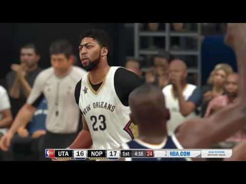 NBA 2K17 Future: Jazz vs. Pelicans - Anthony Davis 43 pts, 11 rebs, 6 blks