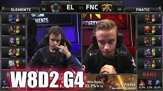 Elements vs Fnatic | S5 EU LCS Summer 2015 Week 8 Day 2 | EL vs FNC W8D2 G4