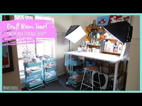 CRAFT ROOM TOUR! *Ikea Storage Ideas For Art And Scrapbooking Supplies*