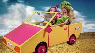 Barbie Car .Как сделать машину для кукол.How to Make a Doll Car.Barbie(Сегодня мы сделаем машину для кукол.How to Make a Doll Car.Нам потребуется:Картон,клей,крышки от бутылок,пластик,само..., 2014-10-22T14:02:57.000Z)