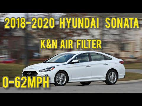 2018-2020 Hyundai Sonata SEL+ 2.4l 0-62mph w/ K&N air filter