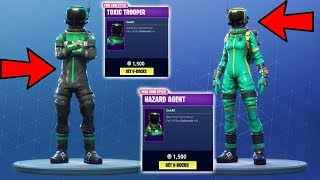 FORTNITE HAZARD AGENT AND TOXIC TROOPER SKINS! - Fortnite Daily Item Shop