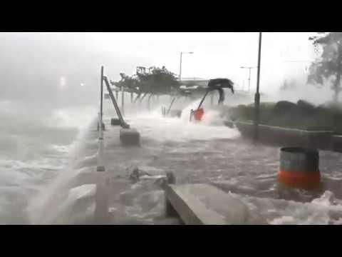 Severe typhoon Hato batters Hong Kong, signal no. 10 up