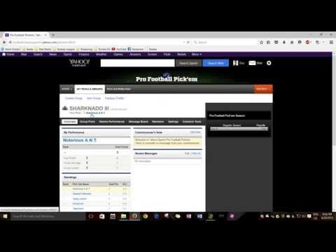 Confidence Points Intro (Yahoo NFL Pick `em League)
