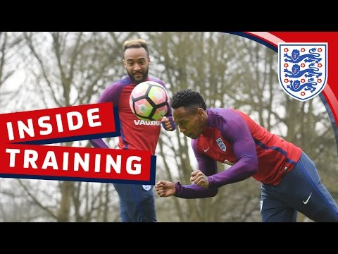England heading challenge warm-up | Inside Training