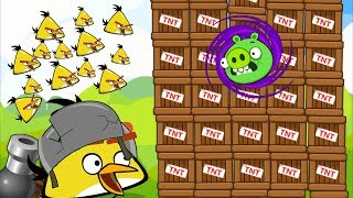 Angry BIrds Collection Cannon 1 - MAD CHUCK OVERDRIVE BIRDS TO BLACK HOLE PIG 1000 TNT!