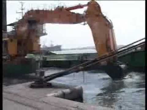 Karachi Port Trust, KPT's Backhoe Dredger ALI at work