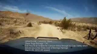 4x4 Off Road Trails: The historic Grapevine Canyon Trail near Borre...
