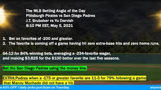 Free MLB Picks and Baseball Betting Predictions for 5-5-2021 with John Ryan