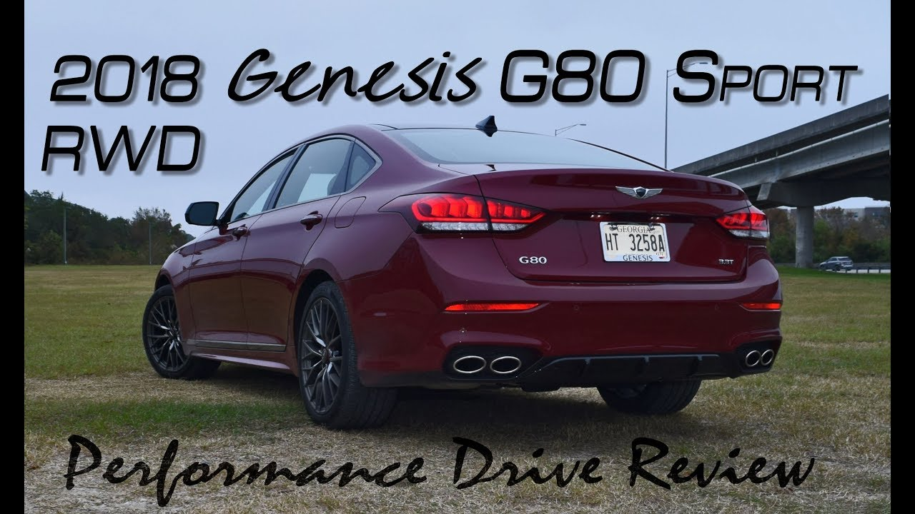 2018 genesis g80 sport rwd performance drive review youtube. Black Bedroom Furniture Sets. Home Design Ideas
