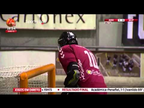 Hoquei Patins :: 12J :: Sanjoanense - 2 x Sporting - 1 de 2014/2015