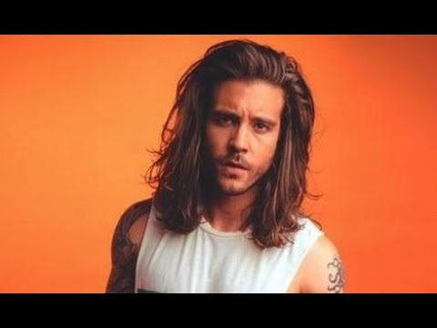 Long Curly Hairstyles For Men Pulled Back Youtube